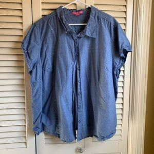 Woman Within 3x chambray button down